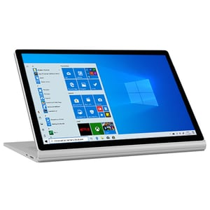 "Laptop 2 in 1 MICROSOFT Surface Book 2, Intel Core i7-8650U pana la 4.2GHz, 15"" Touch, 16GB, SSD 256GB, NVIDIA GeForce GTX 1060 6GB, Windows 10 Pro, argintiu LAPHNR00030"