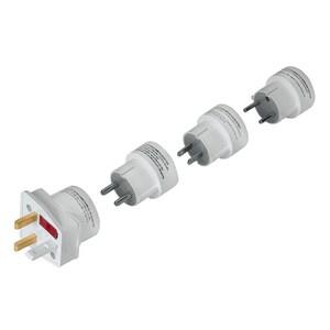 Set adaptoare de priza HAMA 44220 , EU/USA, alb PRZ44220
