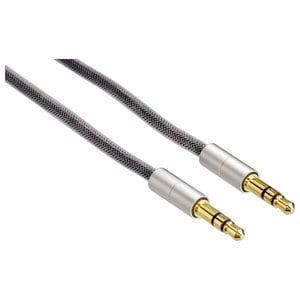Cablu audio HAMA AluLine 115933, Jack 3.5mm, 0.5m, gri AIS115933