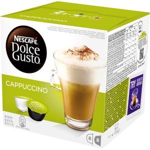 Capsule cafea NESCAFE Dolce Gusto Cappuccino, 8 capsule cafea + 8 capsule lapte, 186.4g CAPNCCAPP
