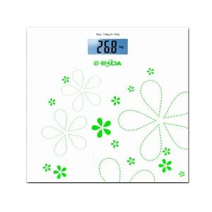 Cantar de persoane E-BODA CEP1011, electronic, 150kg, sticla, alb-verde CNTCEP1011