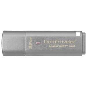 Memorie USB KINGSTON DataTraveler Locker+ G3 DTLPG3/32GB, 32GB, USB 3.0, argintiu USBDTLPG3-32GB