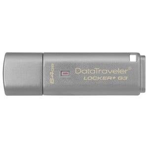 Memorie USB KINGSTON DataTraveler Locker+ G3 DTLPG3/64GB, 64GB, USB 3.0, argintiu USBDTLPG3-64GB