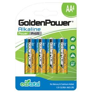 Baterii alcaline GOLDEN POWER Plus, R6(AA), 4 bucati BATGPWGLR6ABC4