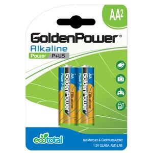 Baterii alcaline GOLDEN POWER Plus, R6(AA), 2 bucati BATGPWGLR6ABC2