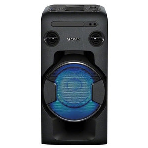 Sistem audio High Power SONY MHC-V11, Bluetooth, NFC, USB, CD, Radio FM, Party Music, iluminare LED, negru MINMHCV11