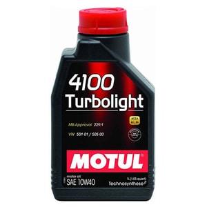 Ulei motor MOTUL 4100 Turbolight, 10W40, 1l AUT4100TB10W401
