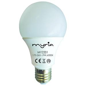 Bec LED MYRIA MY2201, E27, 9W, 6000K, alb rece BECMY2201