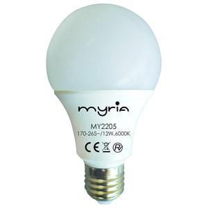Bec LED MYRIA MY2205, E27, 12W, 6000K, alb rece BECMY2205