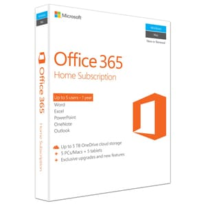 Microsoft Office 365 Home, Engleza EuroZone, Subscriptie 1 an, 5 PC/Mac, 5 Tablete, 5 Telefoane, Windows, Mac, Android, iOS EDU6GQ00684
