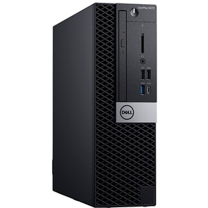 Sistem Desktop PC DELL OptiPlex 5070 SFF, Intel Core i7-9700 pana la 4.7GHz, 16GB, SSD 256GB, Intel UHD Graphics 630, Ubuntu CLCN018O5070SF1