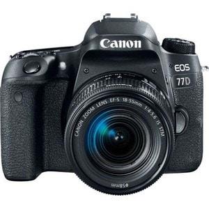 Aparat foto DSLR CANON EOS 77D, 24.2 MP, Wi-Fi, negru + Obiectiv EF-S 18-55mm f/3.5-5.6 IS STM SLREOS77D1855