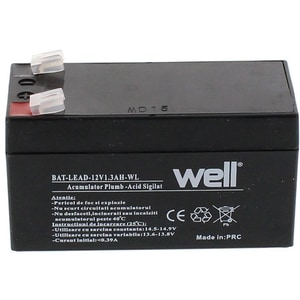 Acumulator plumb acid  WELL BAT-LEAD-12V1.3AH-WL, 12V, 1.3 Ah ACMLEAD12V13AH
