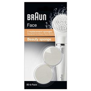 Rezerva perie faciala BRAUN Face Beauty Sponge SE80-B, 2 bucati ACCSE80-B