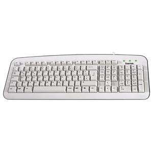 Tastatura cu fir HAMA K210, USB, alb TAS57208