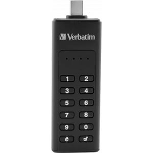 Memorie USB VERBATIM Keypad Secure, 64GB, USB 3.1, negru USB49431