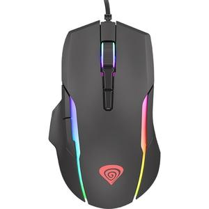 Mouse Gaming NATEC Genesis Xenon 220, 6400 dpi, negru MOUNATXEN220RGB
