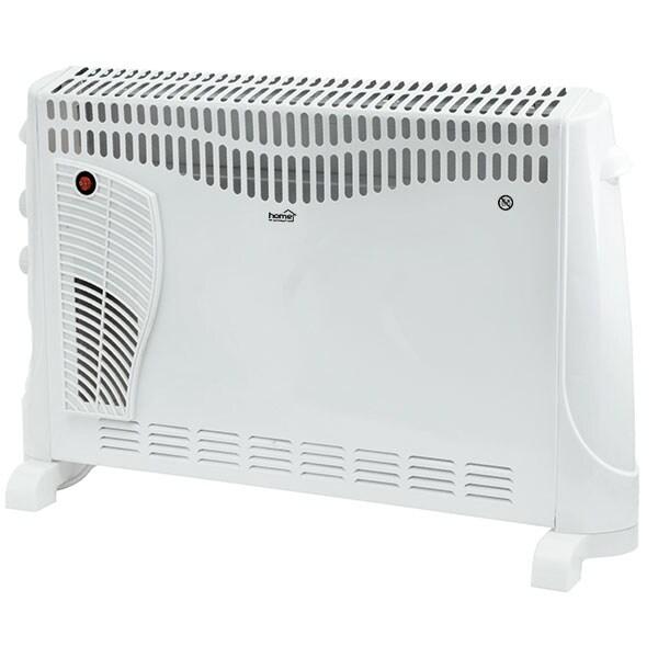 Convector electric de podea HOME FK 340, 3 trepte putere, 2000W, Turboventilator integrat, alb