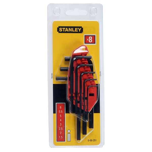 Set chei imbus STANLEY 0-69-251, 8 buc, 1.5-6mm