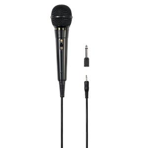 Microfon dinamic karaoke HAMA DM 20, Jack 3.5 mm, Jack 6.3 mm, negru