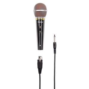 Microfon dinamic HAMA 46060, Jack 6.3 mm, Slot XLR, negru