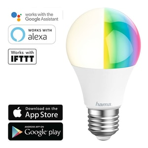 Bec LED RGB Smart HAMA 176547, Wi-Fi, E27, 10W