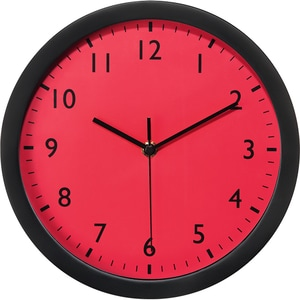 Ceas de perete HAMA Pure 176956, fundal rosu