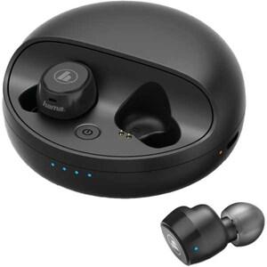 Casti HAMA Disc 178881, True Wireless, Bluetooth, In-Ear, Microfon, negru