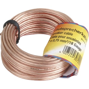 Cablu difuzor 2 x 0.75mm² HAMA 205141, 10m, transparent
