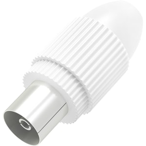 Mufa antena Coaxial Priza HAMA 205214, alb