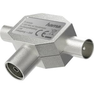 Splitter antena Coaxial HAMA 205236, argintiu