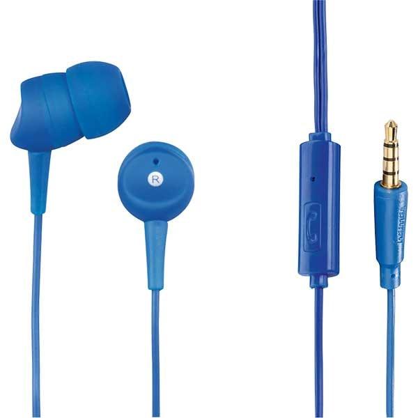 Casti HAMA Basic4Phone 184043, Cu fir, In-ear, Microfon, albastru