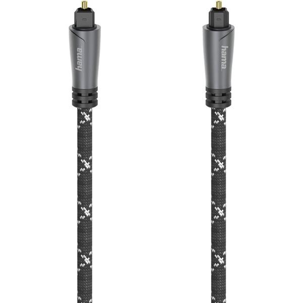 Cablu audio optic HAMA 205139, 1.5m, metal, negru