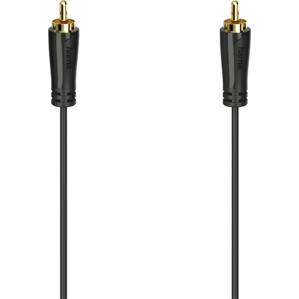 Cablu video RCA HAMA 205148, 1.5m, placat aur, negru