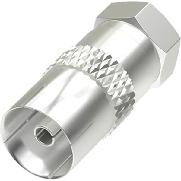 Conector antena Coaxial F-Plug Priza HAMA 205221, argintiu