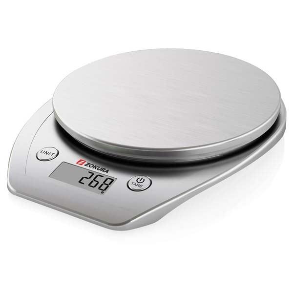 Cantar de bucatarie ZOKURA Z1011, 5kg, argintiu