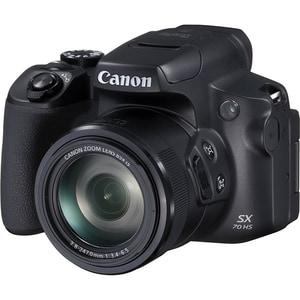 Aparat foto digital CANON PowerShot SX70 HS, 20 MP, 4K, Wi-Fi, negru