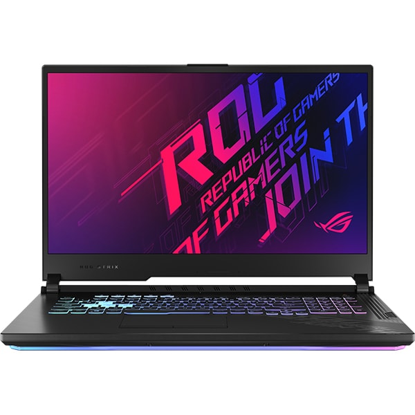 "Laptop Gaming ASUS ROG Strix G17 G712LU-EV008, Intel Core i7-10750H pana la 5GHz, 17.3"" Full HD, 16GB, SSD 512GB + 512GB, NVIDIA GeForce GTX 1660Ti 6GB, Free DOS, negru"