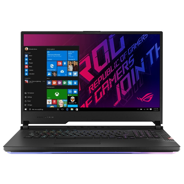 "Laptop Gaming ASUS ROG Strix Scar 17 G732LXS-HG047T, Intel Core i7-10875H pana la 5.1GHz, 17.3"" Full HD, 16GB, SSD 1TB, NVIDIA GeForce RTX 2080 Super 8GB, Windows 10 Home, negru"