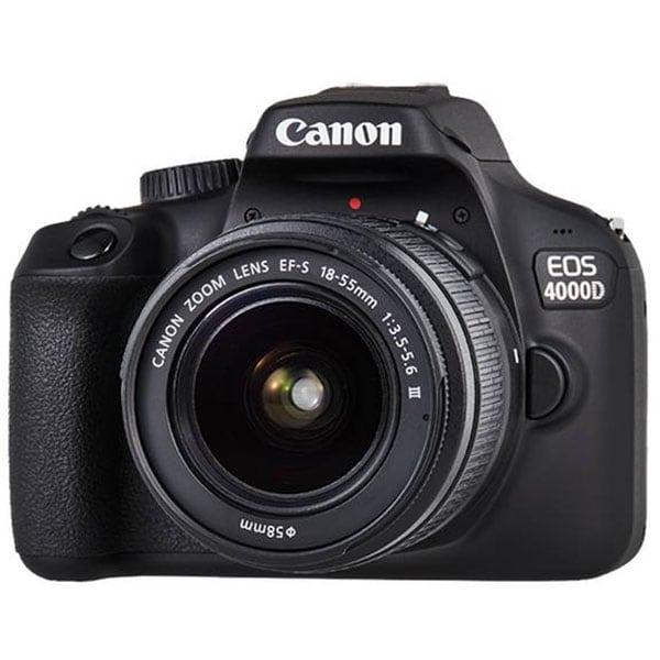 Aparat foto DSLR CANON EOS 4000D, 18 MP, Wi-Fi, negru + Obiectiv 18-55mm SEE