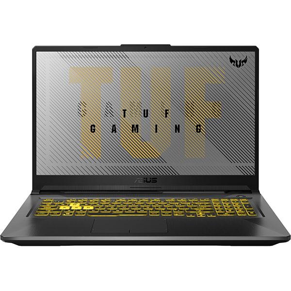 "Laptop Gaming ASUS TUF A17 FA706II-H7024, AMD Ryzen 7-4800H pana la 4.2GHz, 17.3"" Full HD, 16GB, SSD 512GB, NVIDIA GeForce GTX 1650Ti 4GB, Free DOS, gri inchis"