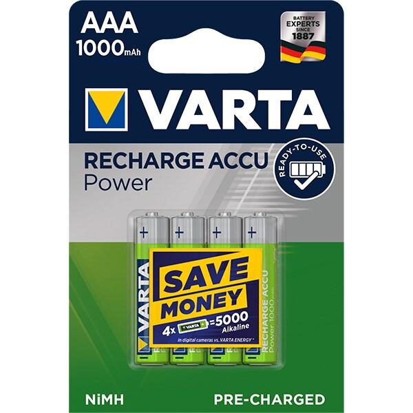 Acumulatori AAA VARTA 5703301404, 1000 mAh, 4 bucati