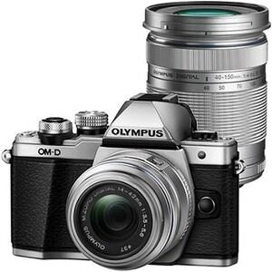 Aparat foto Mirrorless OLYMPUS E-M10III, 16.1 MP, 4K, Wi-Fi, Double zoom Kit