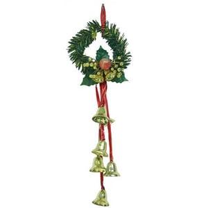 Clopotei decorativi pentru usa/perete BRAZIDELUX, L 38 cm, auriu-rosu-verde