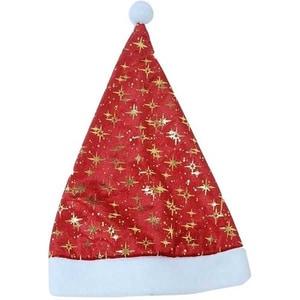 Caciula decorativa Mos Craciun BRAZIDELUX Stars, 30 x 42 cm, rosu-alb