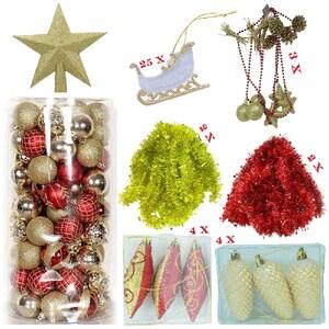 Set 158 ornamente brad BRAZIDELUX Premium