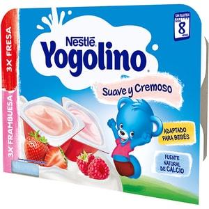 Gustare cu lapte NESTLE Yogolino Creamy Duo cu capsune si zmeura 12422780, 8 luni+, 6 x 60g