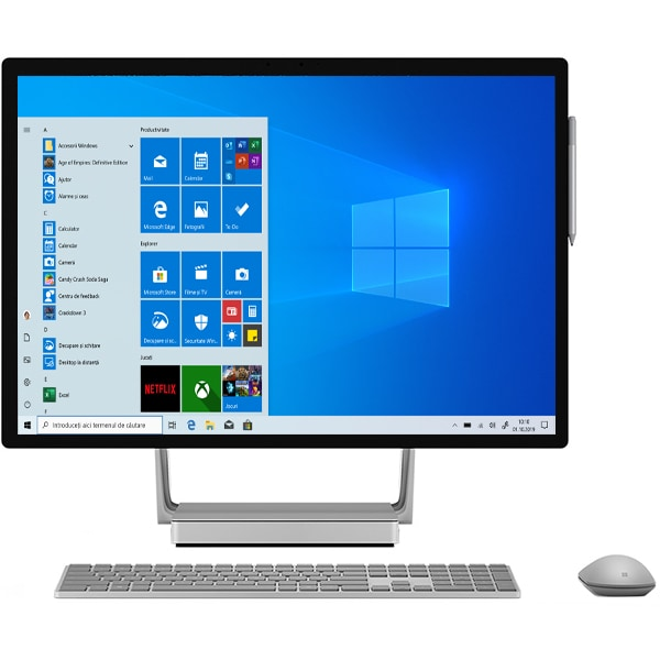 "Sistem PC All in One MICROSOFT Surface Studio 2, Intel Core i7-7820HQ pana la 3.9GHz, 28"" Touch, 32GB, 1TB, NVIDIA GeForce GTX 1070 8GB, Windows 10 Pro"