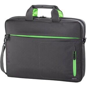 "Geanta laptop HAMA Marseille 101786, 15.6"", negru-verde"