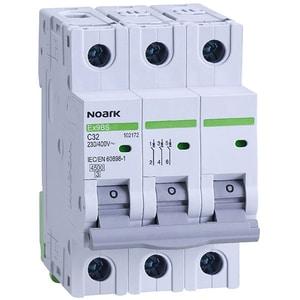 Siguranta automata modulara NOARK 102172, 3P, 32A, curba C